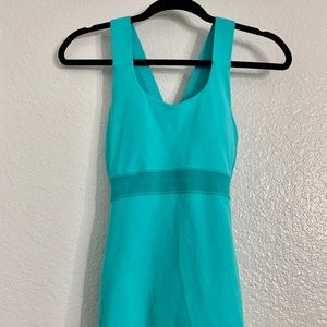 Bright turquoise razor back work out Tank